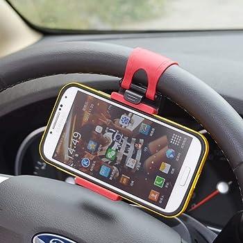 Porum Handyhalterung mit Clip, für Chevrolet Epica, Schwarz/Rot