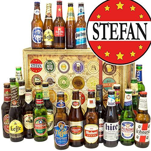 Stefan - 24 Biere aus aller Welt - Bier Box - Geschenke Stefan -