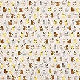 Fabulous Fabrics Canvas Katzen - grau - Meterware ab 0,5m -