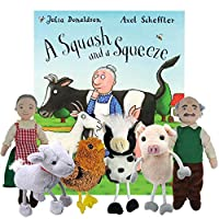 A Squash And a Squeeze - Book and Finger Puppets Set