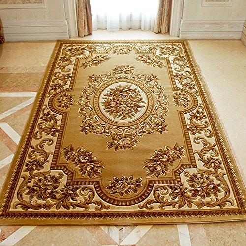 LongYu Tapis Tapis Style Classique européen Design modèle Salon Table Basse Chambre canapé (Size : 200 * 290cm, Style : W-1)