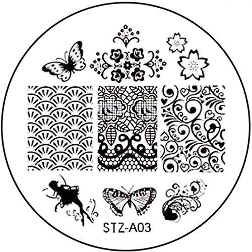 STAMPING-SCHABLONE # STZ-A03 Elfe, Fee, Schmetterling, Fairy, Blüten, Ornamente (Fee Ornamenten)