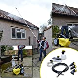 Wolf Sky Blaster 1500 Watt, 240v Pressure Power Washer + Sky Reacher Telescopic Cleaning Lance - Clean Conservatory Roof, Greenhouse, Van, Caravan, Gutter, High Windows and Other Hard to Reach Areas as Well as Car, Drive, Garden Furniture, Path, Bikes and More