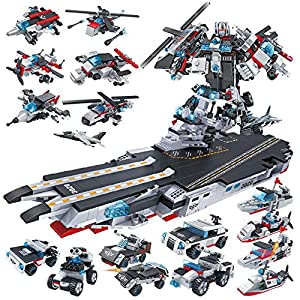DYMAS Giocattolo Intellettuale Fit corazzata Robot mare, terra e aria Team Assembly 8 in 1 LEGO BOOST LEGO