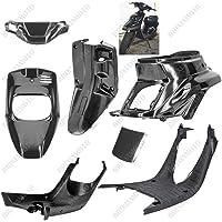 ECLEAR Anteriore Spoiler Mento Copertura Carenatura Staffa di Montaggio per Harley 883 1200 XL Sportster-nero opaco