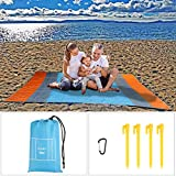 OFNMY 210 * 270cm Sand Proof Beach Blanket, Portable Oversize Lightweight Waterproof S