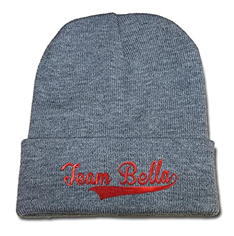DONGF The Bella Twins Team Bella Logo Beanie Fashion Unisex Embroidery Beanies Skullies Knitted Hats Skull Caps Grey