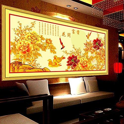 punto croce, Yuanyang, fiori, stile cinese, C0171