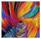 WYZQ Colgante de pared Colour Swir / Home Decor Tapiz Colgante de pared Serie de remolino de colores Composición de patrón de colores remolinos Para proyectos de creatividad para dormitorio Dormitorio , 200*150cm