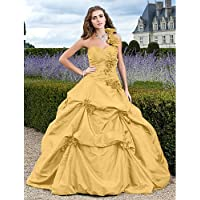 HY&OB A-Line V-Neck Floor Length Chiffon Lace Formal Evening Dress With Beading