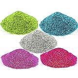 #1: AsianHobbyCrafts Glitter Sparkle Powder (Pack of 5)