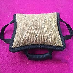 Myyxt Animaux domestiques Commission Tri-Ring Bite Bag Diao Titre Training Practice Hemp Stick