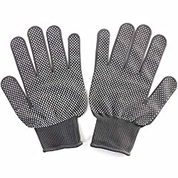 Generic Cosmetic MakeupHeat Resistant Finger Glove Hair Straightener Curling Protector-Black