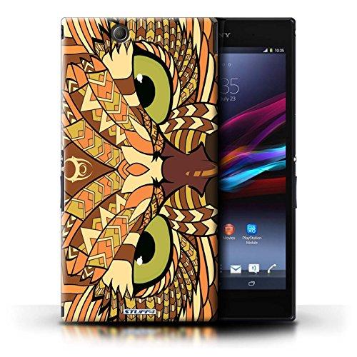 Kobalt® Imprimé Etui / Coque pour Sony Xperia Z Ultra / Loup-Rouge conception / Série Motif Animaux Aztec Hibou-Orange