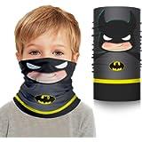 Dailygocn Superhero Kids Neck Gaiter Superhero Face Mask Kids Bandanas Mouth Cloth Cover Balaclavs Headband for Dust Sun