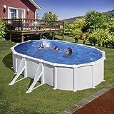Unbekannt Gre kitprov618–Pool oval weiß 4seitenverstärkungen Dim: 610x 375h 132