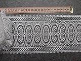Gardinen Borte 11cm hoch beidseitig Annähen Hochglanzgarn