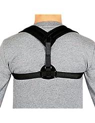 Correcteur de Posture réglable Ceinture de soutien pour le dos et la douleur à l'épaule (Black M(28''-35'' Chest))