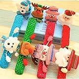 JUNMAONO 4 Stück Weihnachts Dekoration/Weihnachten Pailletten Beleuchten Pat Kreis Armband Handkreis Beleuchten Spielzeug Weihnachtsschmuck/Weihnachtsdekorationen,Geschenk für Kinder