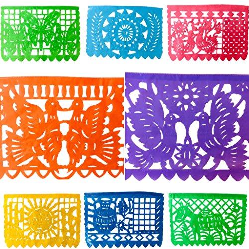 TexMex Fun Stuff Pancartas Horizontales de Fiesta Mexicana (5 Meters) Grande Arco Iris
