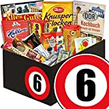 DDR Box mit Süßigkeiten zum 6. Hochzeitstag | Geschenk Ost-Süßigkeiten