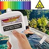 Qulista Elektro Wassertester (pH - Chlor), pH Wert Meter Messgerät Messer Tester für Pool Aquarium Schwimmbad Haushalt und Labor