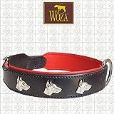 Woza Exclusive HUNDEHALSBAND 3,8/60CM Dobermann Vollleder Rindleder Nappa Handmade Collar