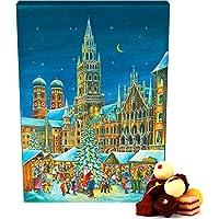 Hallingers Adventskalender Pralinenkalender München | Advents-Karton | 300g
