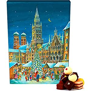 hallingers adventskalender pralinenkalender m nchen advents karton 300g. Black Bedroom Furniture Sets. Home Design Ideas