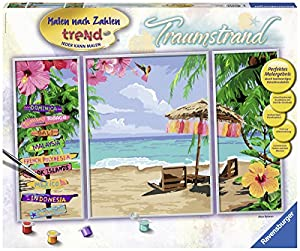 Ravensburger 289806 Kit de Pintura por números Libro y página para Colorear - Libros y páginas para Colorear (Kit de Pintura por números, 3 páginas, Child, Niño/niña, 14 año(s), Dream Beach)