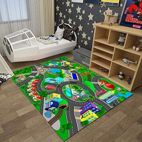 HYY-YY Alfombra de área de dibujos animados para habitación de niño, princesa gatear, manta de guardería...