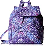 Best Vera Bradley Lilacs - Vera Bradley Women's Drawstring Backpack, Lilac Tapestry Review