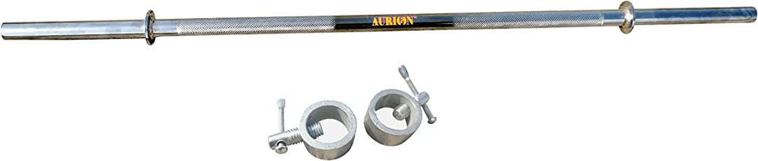 Aurion 3S Steel Straight Bar with 2 Locks (Silver)