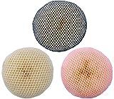 Questa rete per capelli offre una tenuta particolarmente salda. La retina da chignon viene fornita senza chignon di spugna. Colore rete: nero, rosa, bianco. Materiale: 100% poliestere.