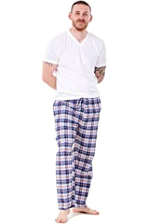 Bay eCom UK New Mens Pyjama Bottoms Rich Cotton Woven Check Lounge Pants Nightwear M to 5XL