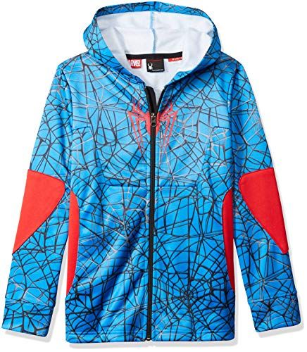 Spyder Active Sports Boy 's Marvel Riot Full Zip Hoodie, Jungen, French Blue/Spiderman, Large