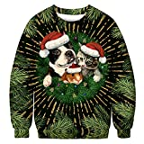 BaZhaHei Winter Herren Outdoor-dünne Langarm Hoodies Sweatshirt Für Herbst Winter Santa Long Sleeve Shirt Weihnachten Polyester Weihnachten Printing Tops