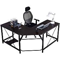 DlandHome Bureau Informatique Coin Table en Forme de L 150 + 150cm Gaming en Bois pour Ordinateur Portable Station de…