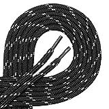 Di Ficchiano Qualitäts-Schnürsenkel, Rundsenkel für Arbeitsschuhe und Trekkingschuhe aus 100% Polyester, ø ca. 4,5 mm, 27 Farben, Längen 70 - 220 cm