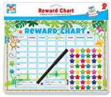 6 x Reward Charts Childrens Jungle Themed Behaviour/Chore Charts with Stickers & Pens by Kids Create
