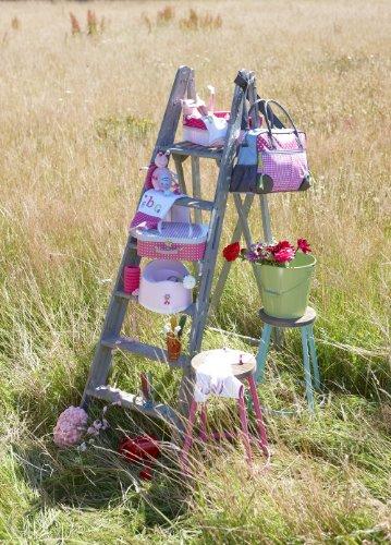 bébé-jou 310044 Wickeltasche 40 x 30 cm, pink, rosa und blau -