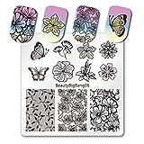 BeautyBigbang Stamping Schablone Plate Nagelstempel Schablonen Stempelschalone Nägel Blumen Floral Lace BeautyBigbang 10