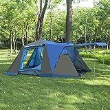 BELLAMORE GIFT Zelt Campingzelt für 3 bis 4 Personen Familienzelt WS 3000mm (110+215+70)*215*165cm WS:3000mm
