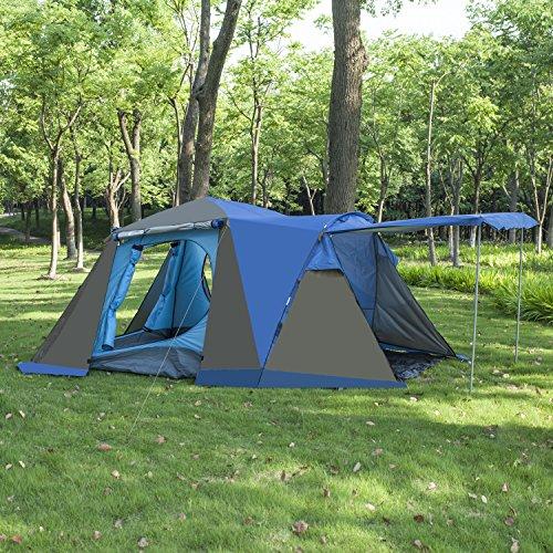 BELLAMORE GIFT Zelt Familienzelt Campingzelt für 3 bis 4 Personen WS 3000mm (110+215+70)*215*165cm WS:3000mm