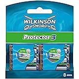 Wilkinson Sword Protector 3 scheermesjes voor heren, 8 scheermesjes, 8 stuks
