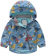 Keephen Unisex Winddicht Outdoor Jacke Kinder Wasserdichte Regenjacke Kapuzenjacke Parker Mantel Warme Fleece