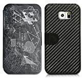 Book Style Case Cover Carbon Flip Case Cover Shell for the