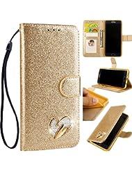 40187f2f6e Vicbey Bling Cristallo Glitter Diamond Soft Flip Magnetico per Samsung S9  Plus