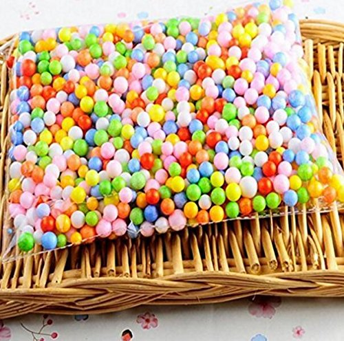 Sun Flower Arpoador Styropor Kugeln schlamm Polystyrol Schaumstoff Farbige Kugeln Filler Perlen Decor (Multicoloure)