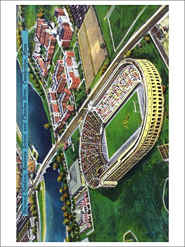 Cambridge, Massachusetts Harvard University; Aerial Of Stadium (Playing Card Deck 52 Card Poker Size With Jokers)